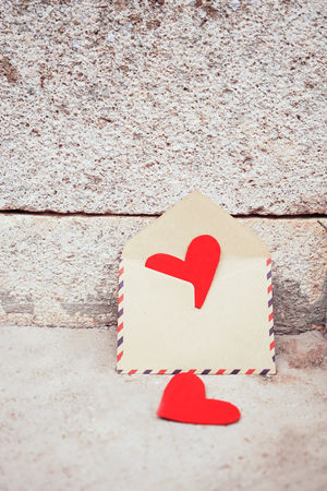 Heart Shape Love Positive Emotion Red Emotion No People Close-up Art And Craft Creativity Still Life Design Day High Angle View Shape Paper Valentine's Day - Holiday Craft Single Object Nature Envelope Card Love Heart Mail