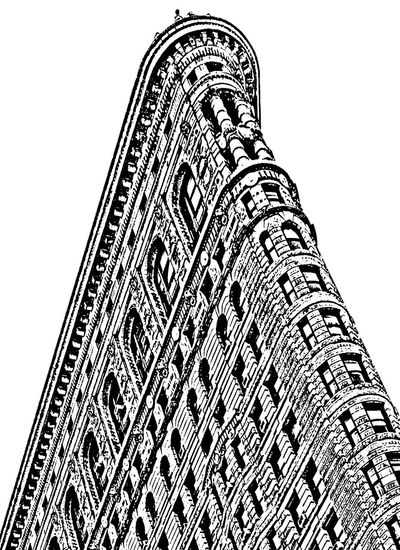 23rd Street  Architecture BIG Chelsea Flatiron Building Historic Landmark NYC Photography Black And White Devin Delano Old Neighborhoods Silkscreen First Eyeem Photo