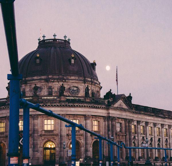 Architecture Building Exterior Dusk Travel Night Berlin Museum Island Moon