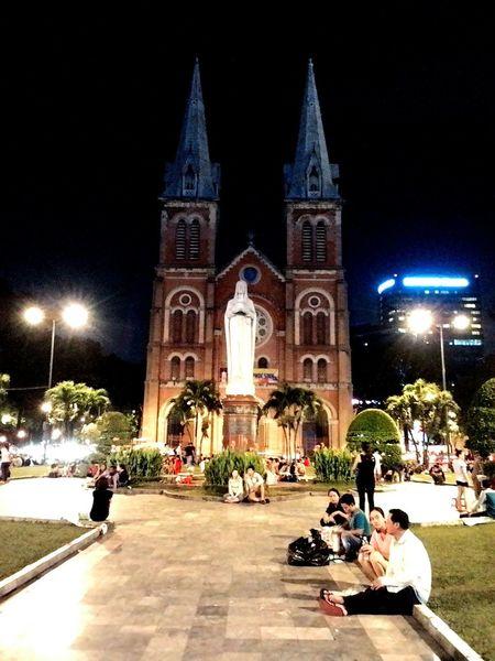 Nhà Thờ Đức Bà Saigon Night Nhathoducba
