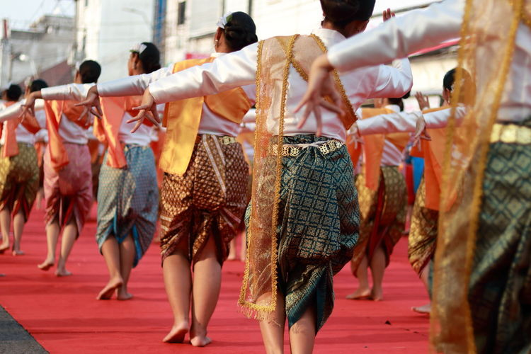 Dancers performing during traditional festival