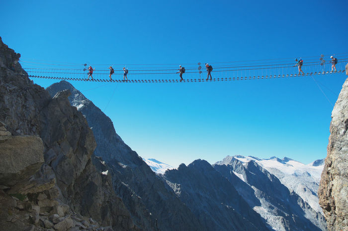 "Wonderful alpine suspended walkway in the via ferrata ""Sentiero dei Fiori"". ADAMELLO-PRESANELLA ALPS, ITALY Adrenaline Climber Ponte Di Legno Summer Road Tripping The Great Outdoors - 2018 EyeEm Awards The Traveler - 2018 EyeEm Awards Adamello Adamello Brenta Alpinism Alps Castellaccio Ferrata  Hiking Adventures Mountain Range Mountains Outdoors Scenics - Nature Sentiero Dei Fiori Summer Sports Suspended Bridge Suspended In The Air Suspended Walkway Tonale Vertigo Via Ferrata"