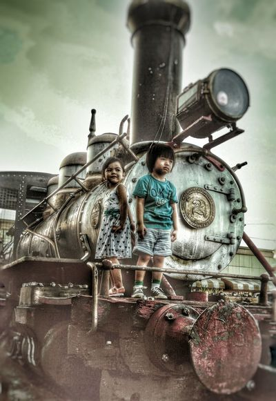 Full Steam Ahead... Happy Kidsphotography Train Sunny Day Adorable Giggles ♥  Lovelovelove Cousin Live For The Story