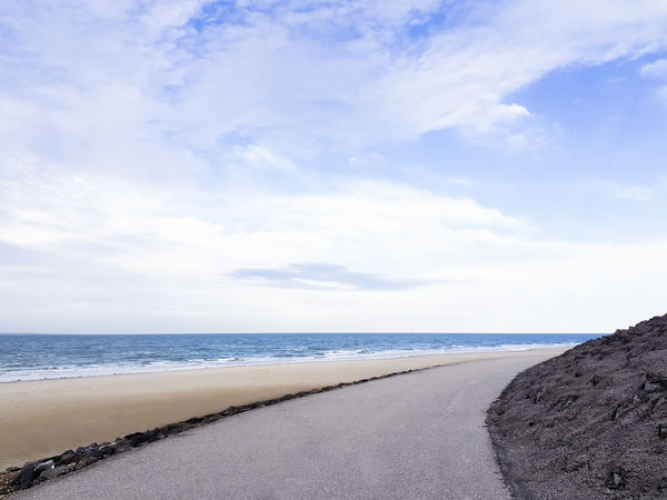 Asphalt EyeEm Nature Lover EyeEm Gallery Road Beach Beauty In Nature Cloud - Sky Clouds And Sky Day Eye4photography  Horizon Over Water Nature No People Outdoors Path In Nature Sand Scenics Sea Shore Sky Tranquil Scene Water Westenschouwen