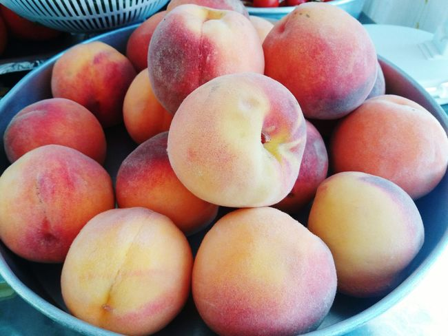 Food Food And Drink Healthy Eating Peach Peach Blossoms Peach Color EyeEmNewHere Nature Photography Nectarines Fruit Freshness No People Indoors  Close-up Sweet Food Day Connected By Travel Lost In The Landscape