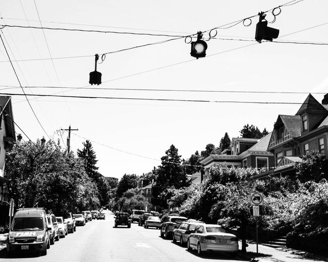 Old school lights Sky Mode Of Transportation Cable Architecture Motor Vehicle Transportation Car Building Exterior Hanging Power Line  City