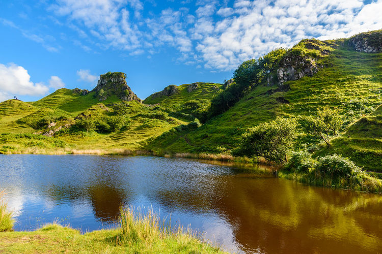 Fairy Glen Scotland Scottish Uig Beauty In Nature Cloud - Sky Day Field Grass Green Color Growth Highlands Idyllic Lake Landscape Mountain Mountain Range Nature No People Outdoors Scenics Sky Tranquil Scene Tranquility Tree Water