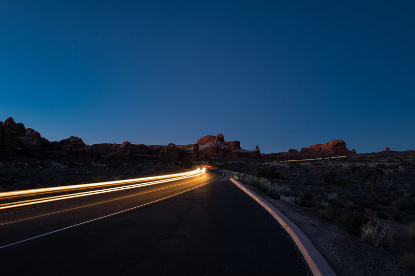 Road trip in Nevada, Arizona and Utah Grand Canyon Canyons Road Road Trip Antelope Canyon Bryce Canyon Zion National Park Nightphotography Monument Valley Transportation Light Trail
