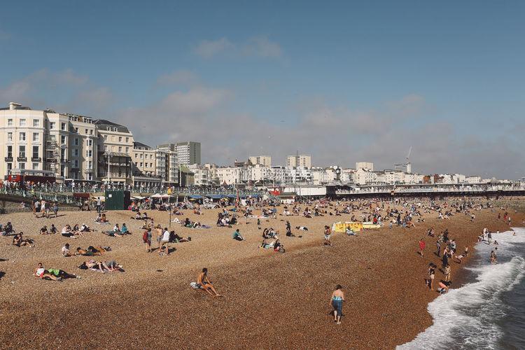 People Enjoying At Brighton Beach