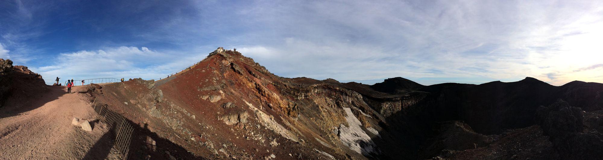 Mtfuji 富士山 山頂 パノラマ 剣ヶ峰