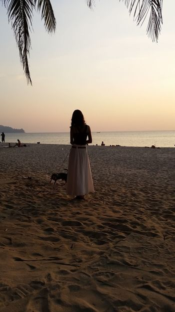 Beach Sea Sunset Only Women Vacations One Person One Woman Only Travel Destinations Phuket Thailand