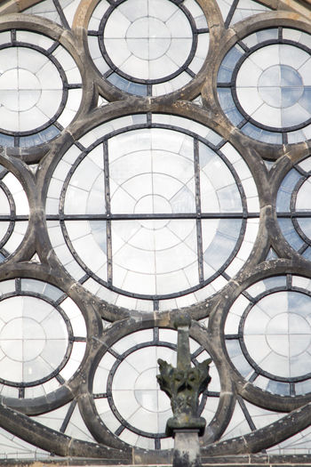 Church Leipzig Architectural Design Architecture Built Structure Ceiling Circle Close-up Day Full Frame Indoors  Low Angle View No People Pattern Peterskirche Window Windows