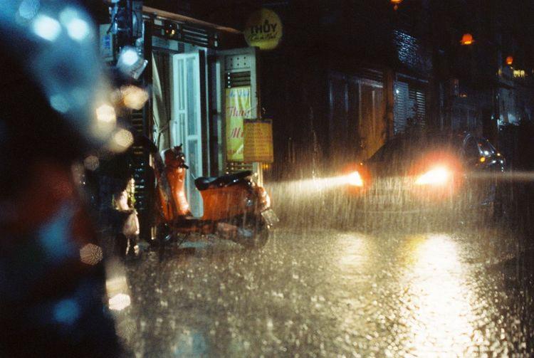 Analog Raining