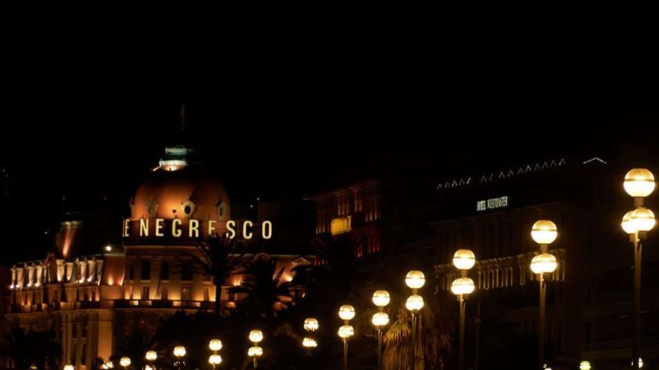 Negresco Hotel Nice Atmosphere Nizza Architecture Building Exterior City Illuminated Night No People