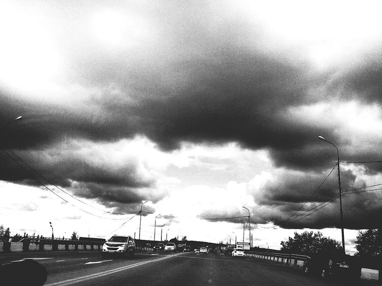 Cloud - Sky Dramatic Sky Sky Storm Cloud Car Transportation Outdoors The Street Photographer - 2017 EyeEm Awards The Great Outdoors - 2017 EyeEm Awards The Photojournalist - 2017 EyeEm Awards City Life Cityview Cityscape Irkutsk City Street Blac&white  EyeEmNewHere Blackandwhitephoto Live For The Story