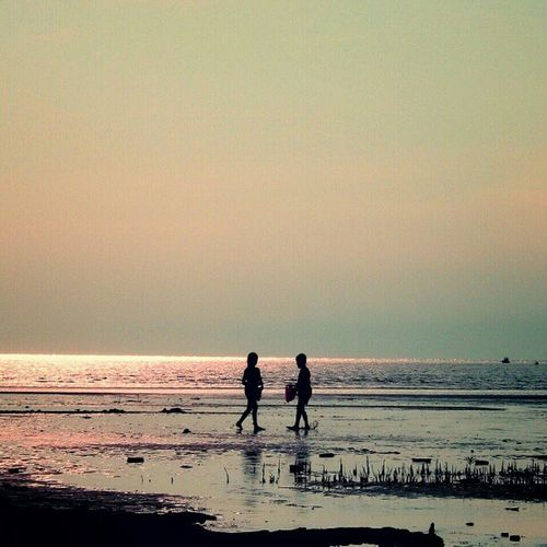 Re-edit Children and the Sunset Andrography Photography Keprifoto Karimun INDONESIA Sea