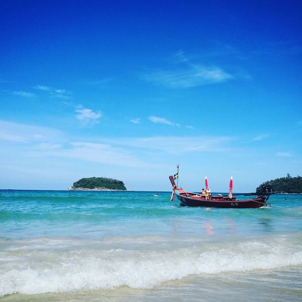 Phuket,Thailand Sea Nautical Vessel Blue Horizon Over Water Water Travel Destinations Beauty In Nature Nature Beach No People