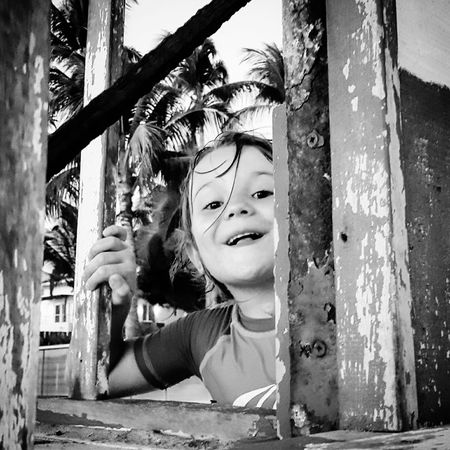 Happiness Kids Being Kids Kids Blackandwhite Beach Life Exploring EyeEm Expression Face Showing Live For The Story