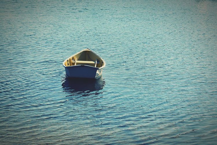 Abandoned Single Object Cape Cod Lake Canoe Boat Water Waterfront Day Nature Sea Nautical Vessel Transportation Mode Of Transportation No People Outdoors Leisure Activity Sunlight Lifestyles Travel Floating On Water