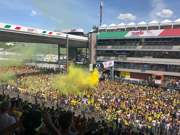 Mugello 2018 fans motogp Yellow Crowd Group Of People Large Group Of People Architecture Sky Women Love The Game Love The Game