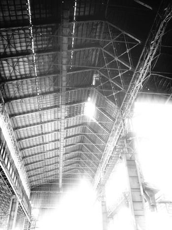 Abandoned Buildings Under The Roof Industrialarchitecture Blackandwhite aree ex-falck