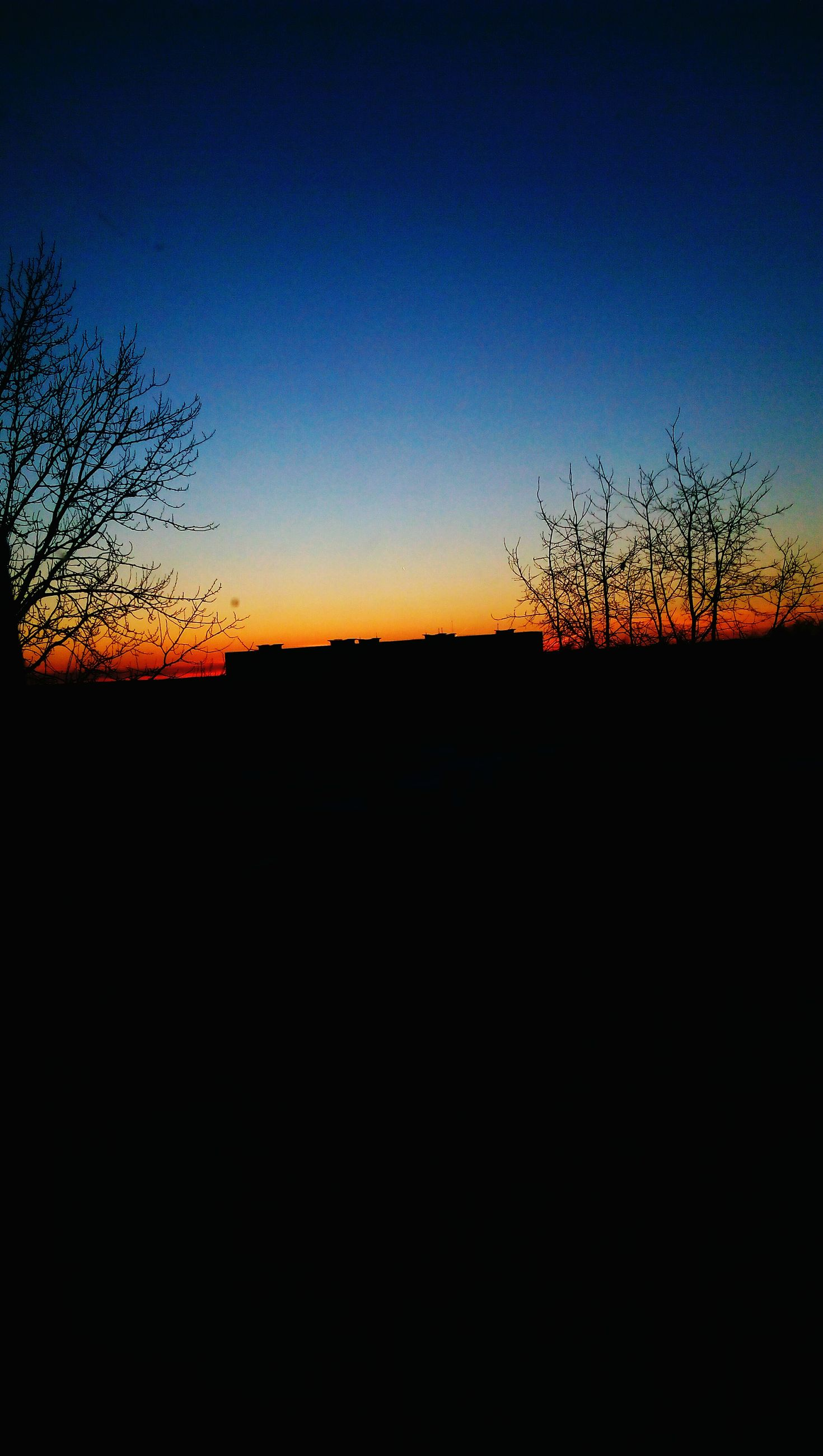 sunset, silhouette, nature, sky, beauty in nature, orange color, tree, tranquility, no people, scenics, dramatic sky, outdoors