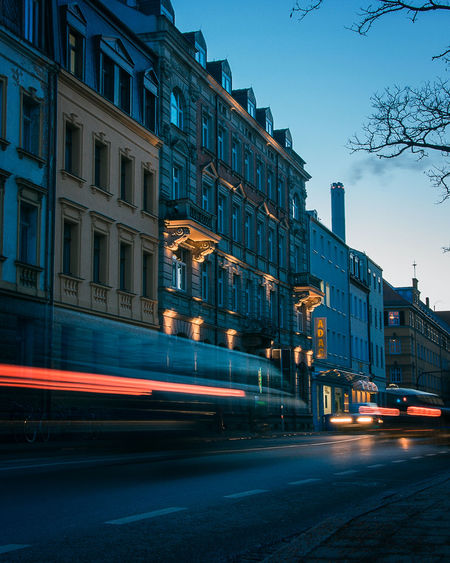 Blaue Stunde Nikon D5100 Bluehour Car Motion Evening Nightshot Nightphotography Erlangen EyeEmNewHere EyeEm Gallery EyeEm Selects City Street City Architecture Car Illuminated Blurred Motion Light Trail Cityscape Long Exposure Road Building Exterior Outdoors Sky