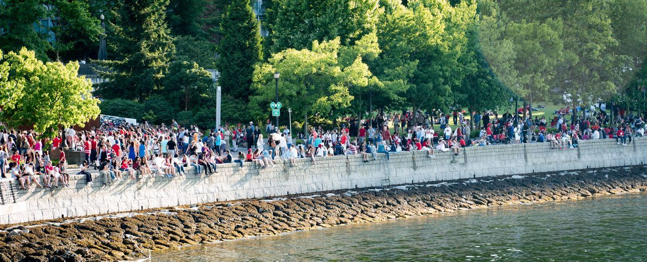 Where's Waldo? Canada Day 2017 Vancouver Large Group Of People Real People Outdoors Tree Day Water Crowd People