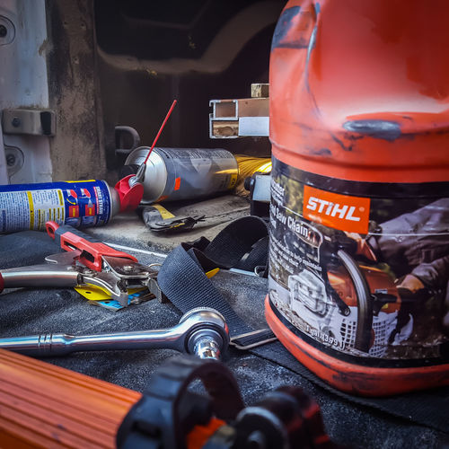 Hazmat At Work Stihl Lubricant Lubricants Tools Tools Of The Trade In My Truck Getting Dirty