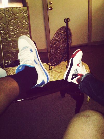 Chillin with my young nigga Haha. Relaxing Jordans Nephew  4'S GoingOut
