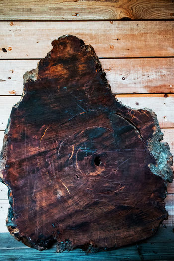 Brown Close-up Focus On Foreground Hole In Wood Natural Pattern Nature Outdoors Tree Tree Trunk Wood Wood Slats Wood Wall Wooden