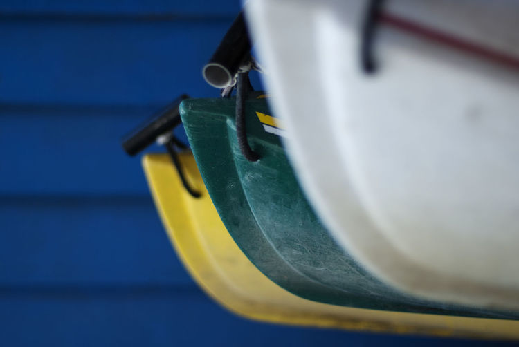 Close-up of yellow boat