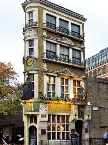 Architecture Balcony Building Building Exterior Built Structure City City Life Day Exterior Façade Low Angle View Outdoors Pub Yellow London Lifestyle