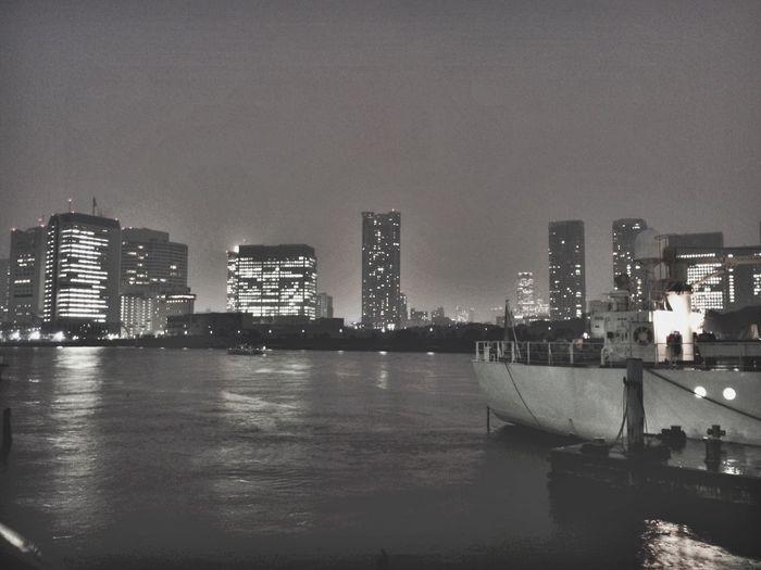 Tokyo Nightphotography Reflaction Sumida River 墨田川