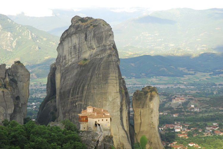 Panoramic view of buildings and mountains