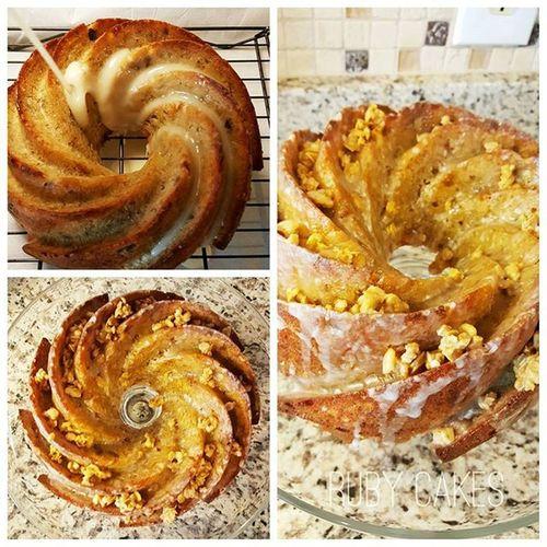 Banana Bread with Vanilla Glaze Banana Bakery Banana Bread Sweet Treat Ruby Cakes Delicious Vanilla Oats Glaze Bread Food Porn Food Photography