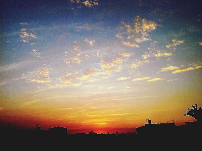 屋頂看夕陽 First Eyeem Photo