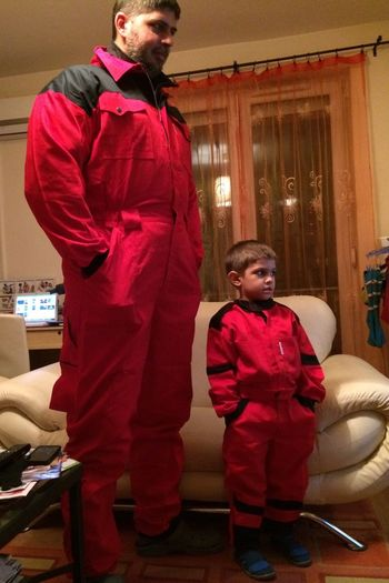 Man and half man :) Son Halfman Safety Rescue