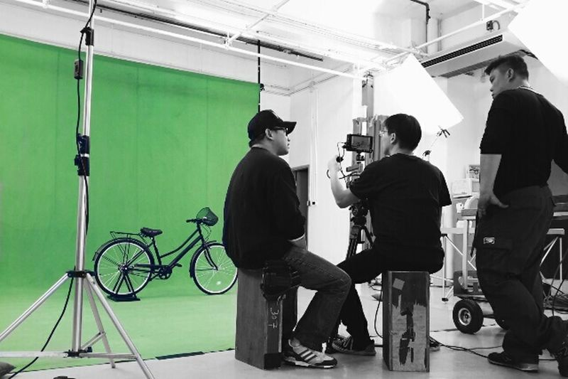 Video Shoot Green Screen Bicycle OpenEdit Silhouette