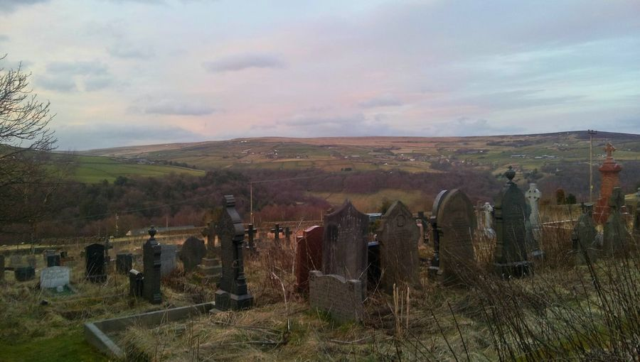 Spooky Church Graveyard.. Graves Overgrown English Countryside