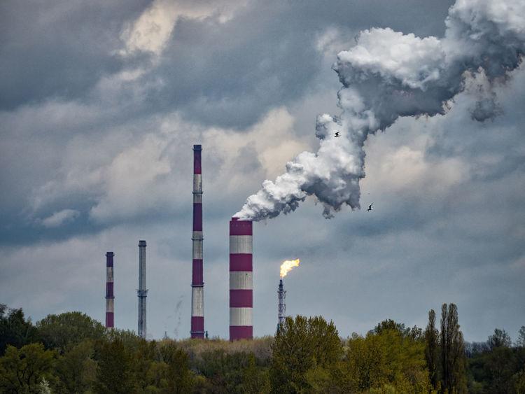 Chimneys Environmental Pollution Olympus OM-D E-M5 Smoke Cloud - Sky Emitting Industry No People Smoke Stack