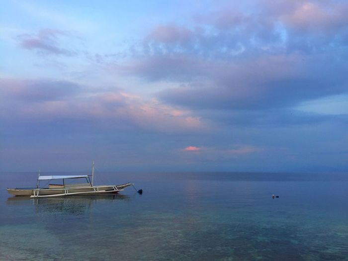 Sea Beauty In Nature Scenics Boat Seaside Moalboal Cebu