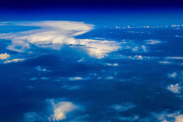 Aerial View Beauty In Nature Blue City Cloud - Sky Illuminated Nature Night No People Outdoors Planet Earth Satellite View Scenics Sea Sky Space Water