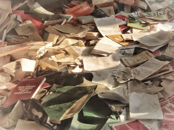 | Books | Abandoned I Luoghi Dell'abbandono Books On The Ground Backgrounds Full Frame Paper Close-up Crumpled Paper Creative Space The Still Life Photographer - 2018 EyeEm Awards The Creative - 2018 EyeEm Awards The Traveler - 2018 EyeEm Awards