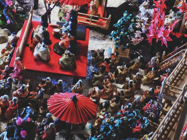 High Angle View Outdoors Christmas Decoration Multi Colored Vacations Large Group Of People Christmas Tree Crowd Christmas Ornament Architecture Day People Spring 春 Pink Color Japan 伊藤伝右衛門 飯塚市 日本 ひなまつり Hinamatsuri
