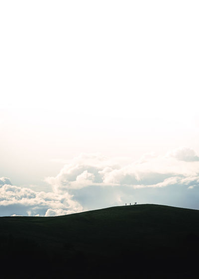 Scenic view of silhouette landscape against sky