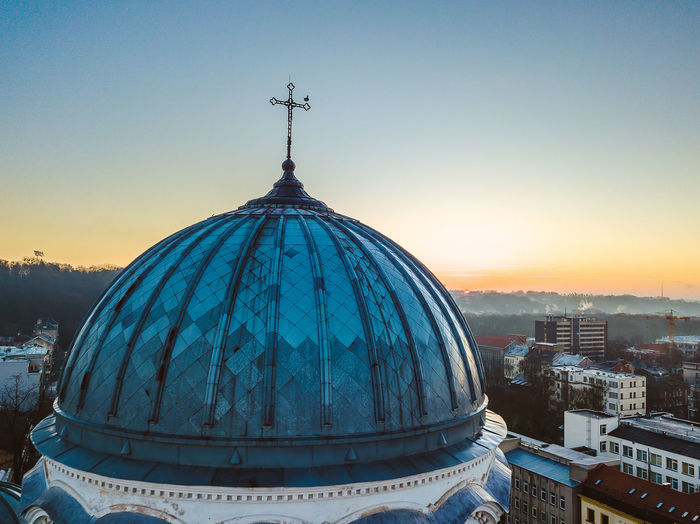 Dome Against Sky During Sunset