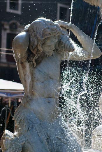 Fontain Fontana Catania, Sicily Acqua Amenano Cornucopia