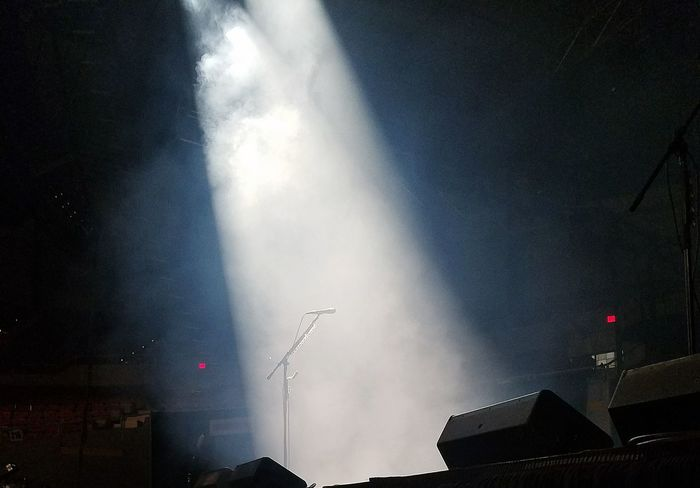 Last Performance Microphone Mic Stage Stage Light Concert Halestorm No People Night Spotlight Performance Lighting Effects Smokey Solo Music Popular Music Concert