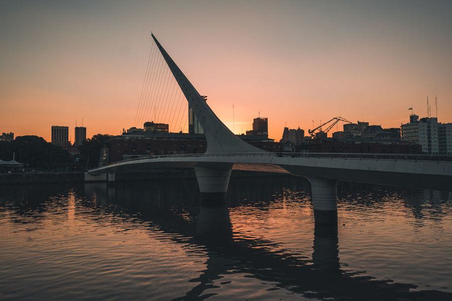 Argentina Bridge Lifestyle Puente De La Mujer Puerto Madero Sunset Travel Vacation VSCO Vscocam This Is Latin America